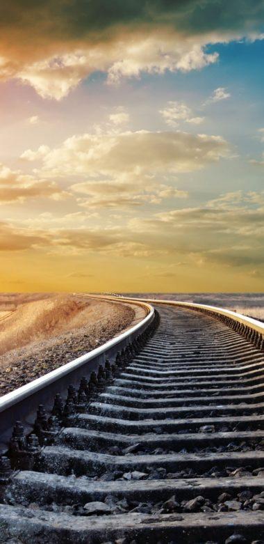 Sunset Winter Railway 1080x2220 380x781