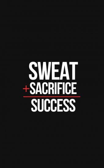 Sweat Sacrifice Success Wallpaper