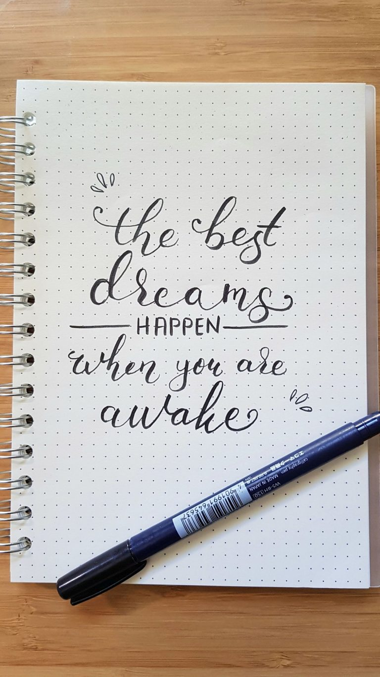The Best Dreams Happen When You are Awake Wallpaper