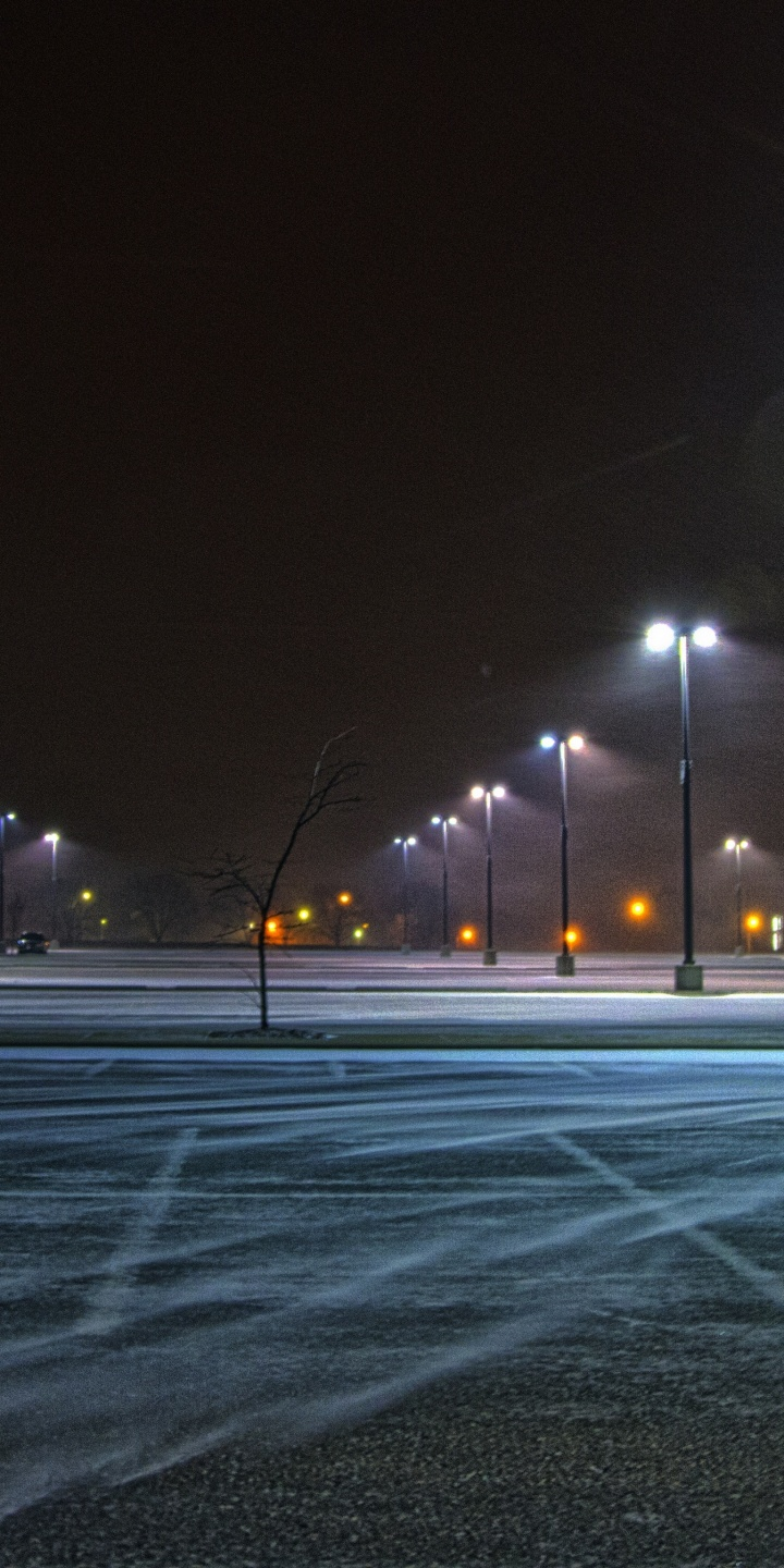 Winds Street Lights Asphalt Parking Lot 720x1440