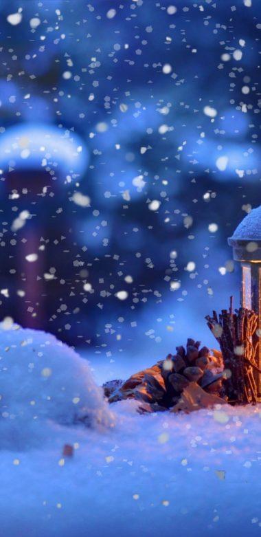 Winter Snow Bokeh 1080x2220 380x781