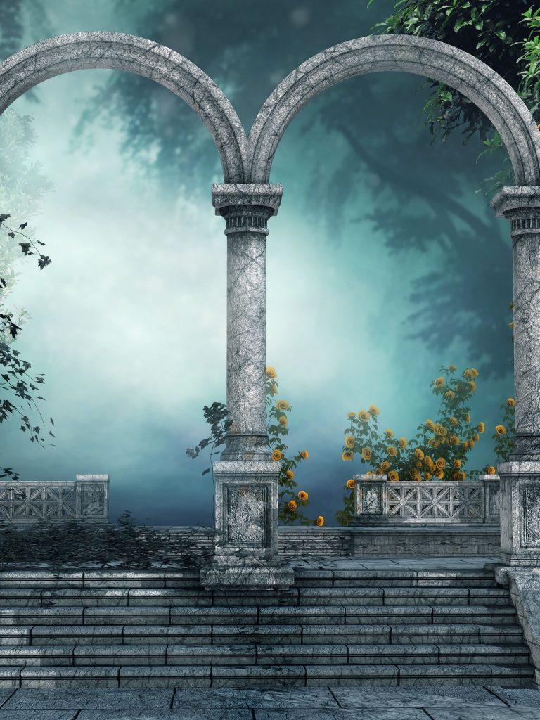 Arch Forest Gate Door 3d Wallpaper 1536x2048 768x1024