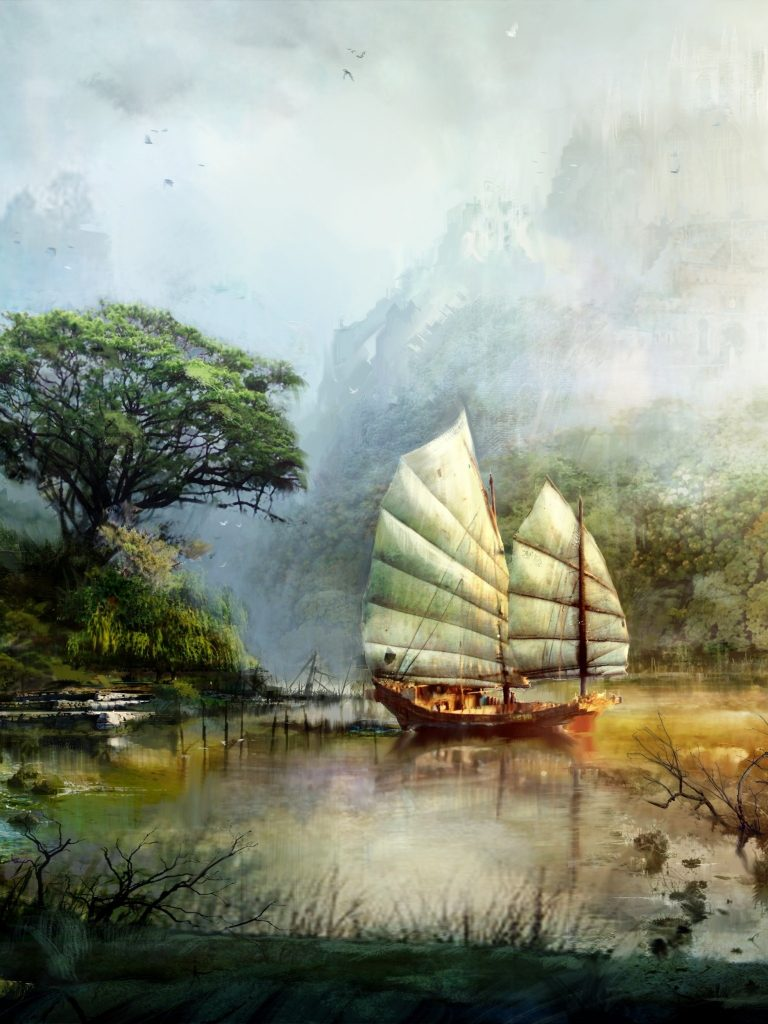 Art Guild Wars 2 Ship Wallpaper 1536x2048 768x1024