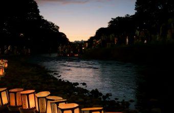 Japanese Lantern Lamp Light Wallpaper 1536x2048 340x220