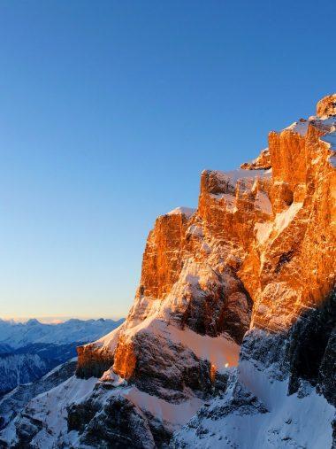 Mountains Snow Light Sky Winter Wallpaper 1536x2048 380x507