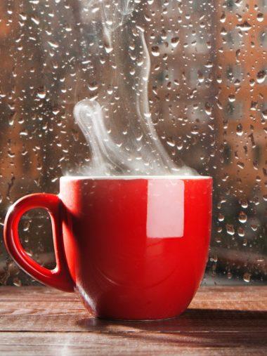 Rain Cup Smoke Glass Drops Wallpaper 1536x2048 380x507