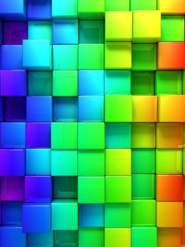 Rendering Cubes Background Color Wallpaper 1536x2048 380x507