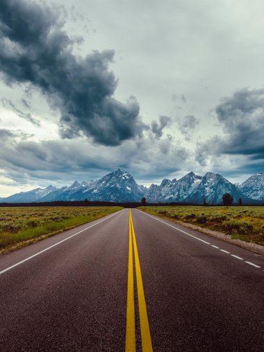 Road Field Horizon Mountains Wallpaper 1536x2048 380x507