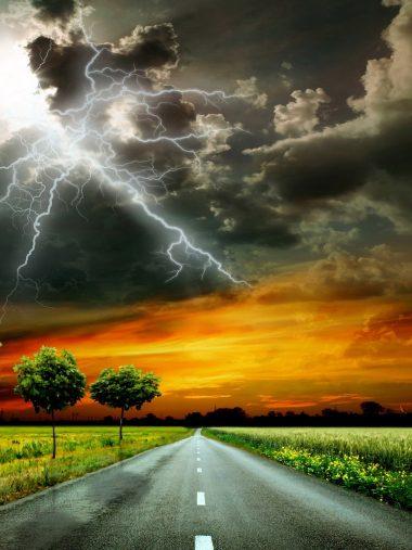 Scenery Roads Sky Grass Clouds Wallpaper 1536x2048 380x507