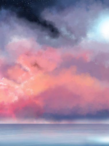 Sea Mist Painting Sky Wallpaper 1536x2048 380x507