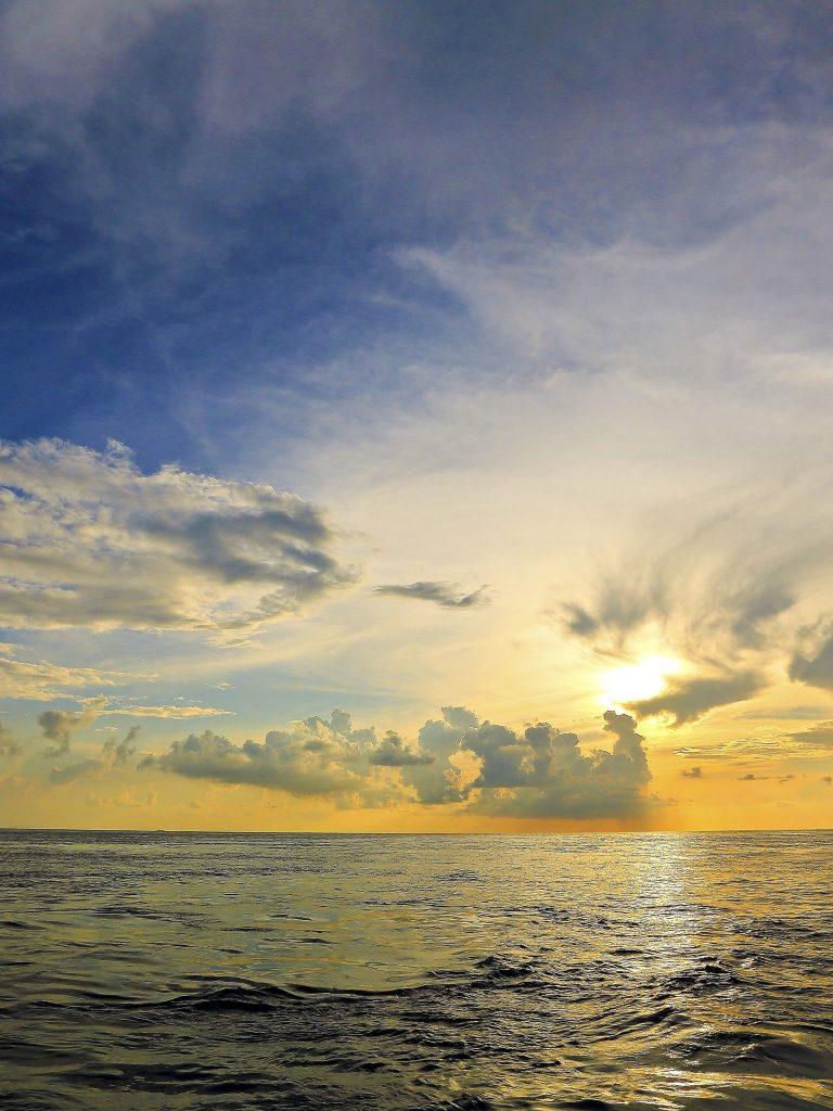 Sunset Sea Sky Landscape Wallpaper 1536x2048 768x1024