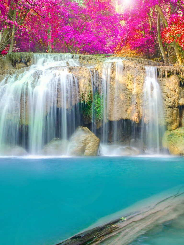 Thailand Parks Waterfall Wallpaper 1536x2048 768x1024