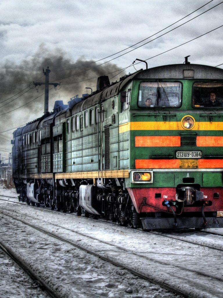 Train Railroad Tracks Wallpaper 1536x2048 768x1024