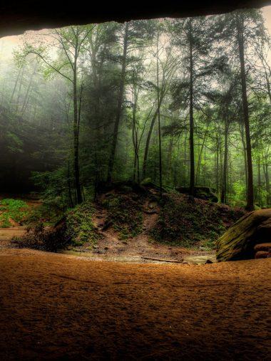 Waterfalls Usa Crag Trees Hocking Wallpaper 1536x2048 380x507