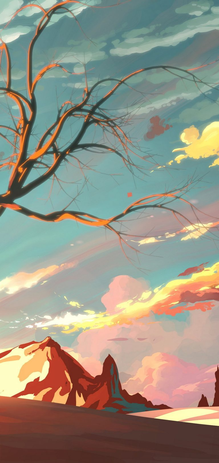 Artistic Landscape Wallpaper 1080x2280 768x1621