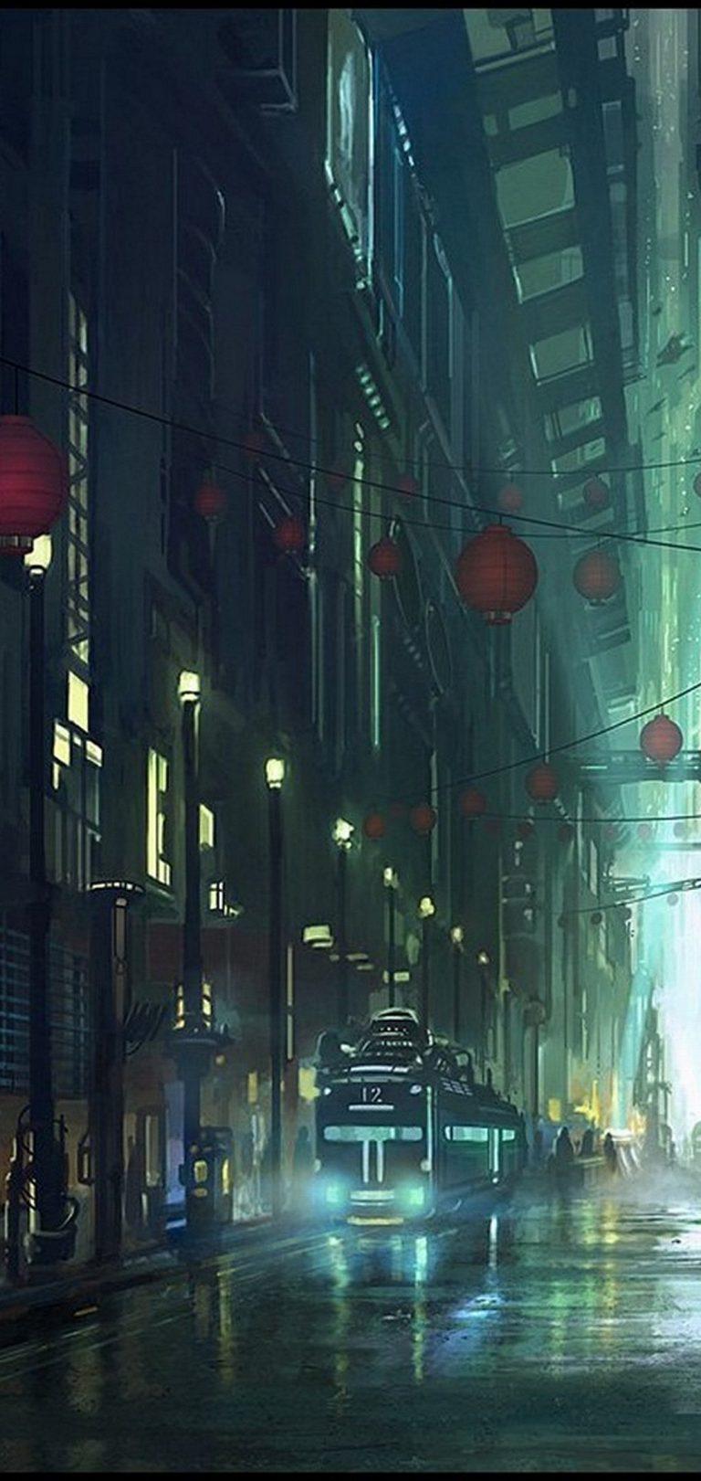 Artistic Night Wallpaper 1080x2280 768x1621