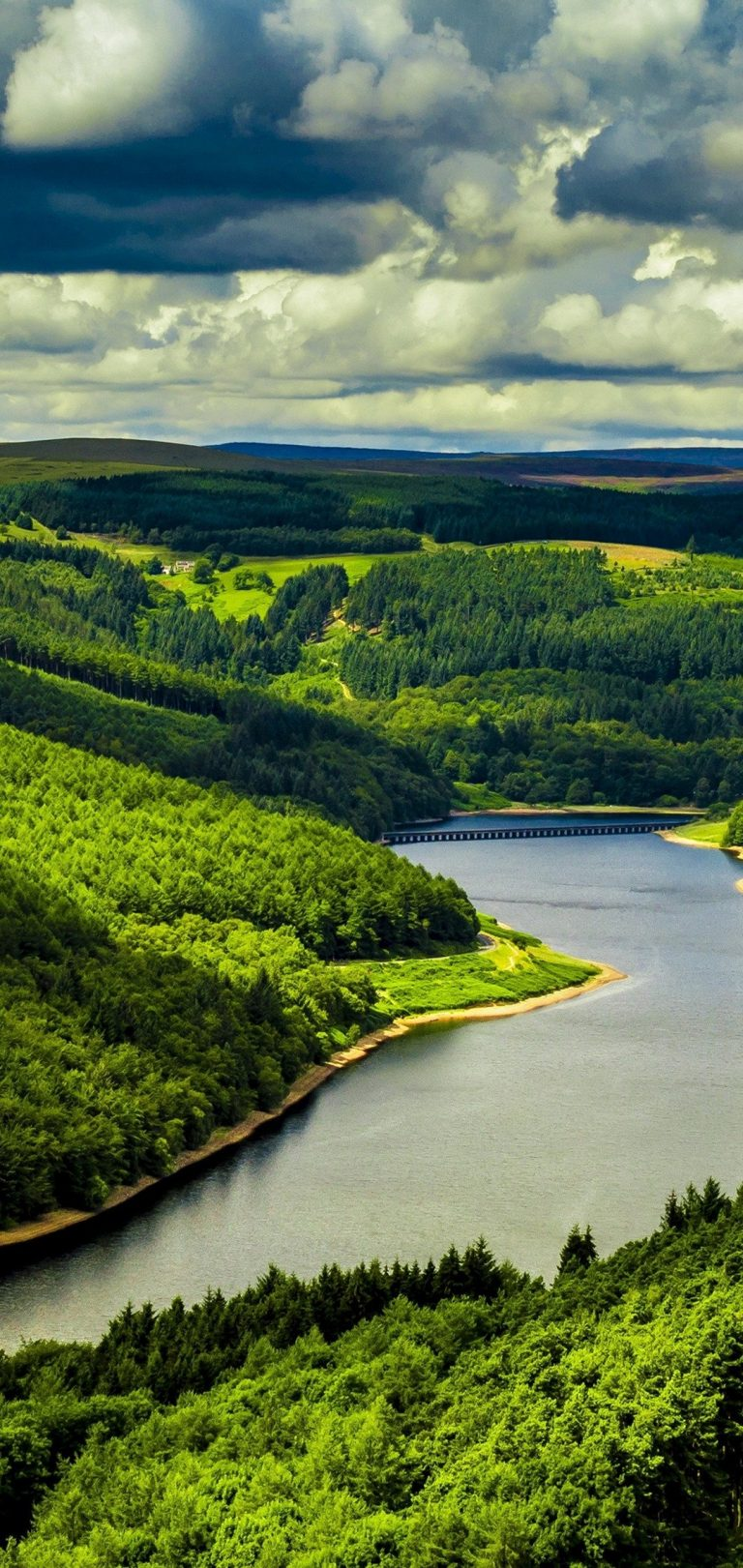 Beautiful River Mountains Wallpaper 1080x2280 768x1621