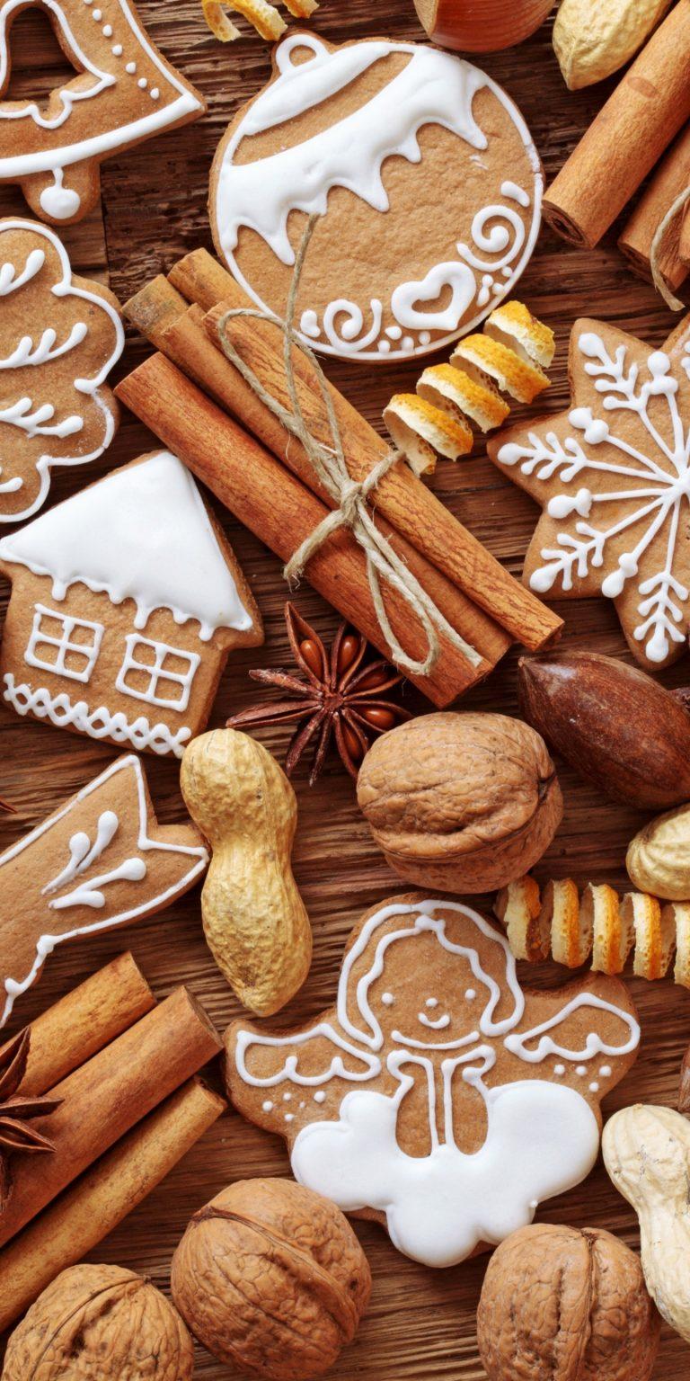 Cinnamon Nuts Cookies Orange Fruit Food 1440x2880 768x1536