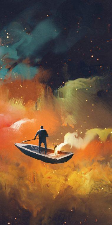 Colors Man Boat Wallpaper 720x1440 380x760