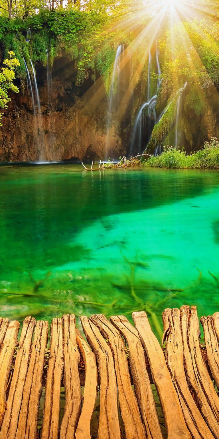 Croatia Parks Lake Waterfall Plitvice 1440x2880 768x1536