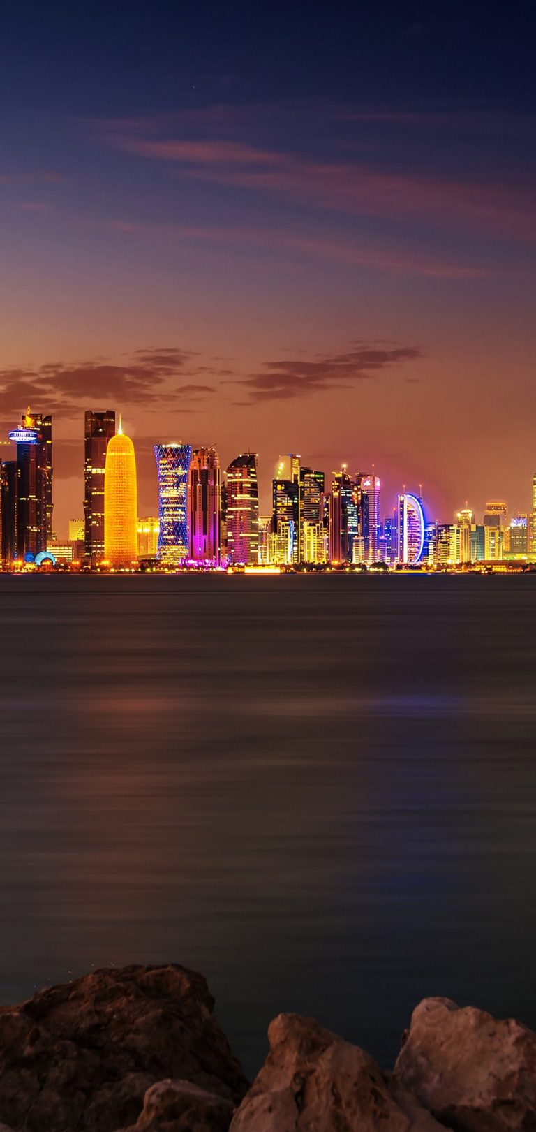 Doha City Wallpaper 1080x2280 768x1621