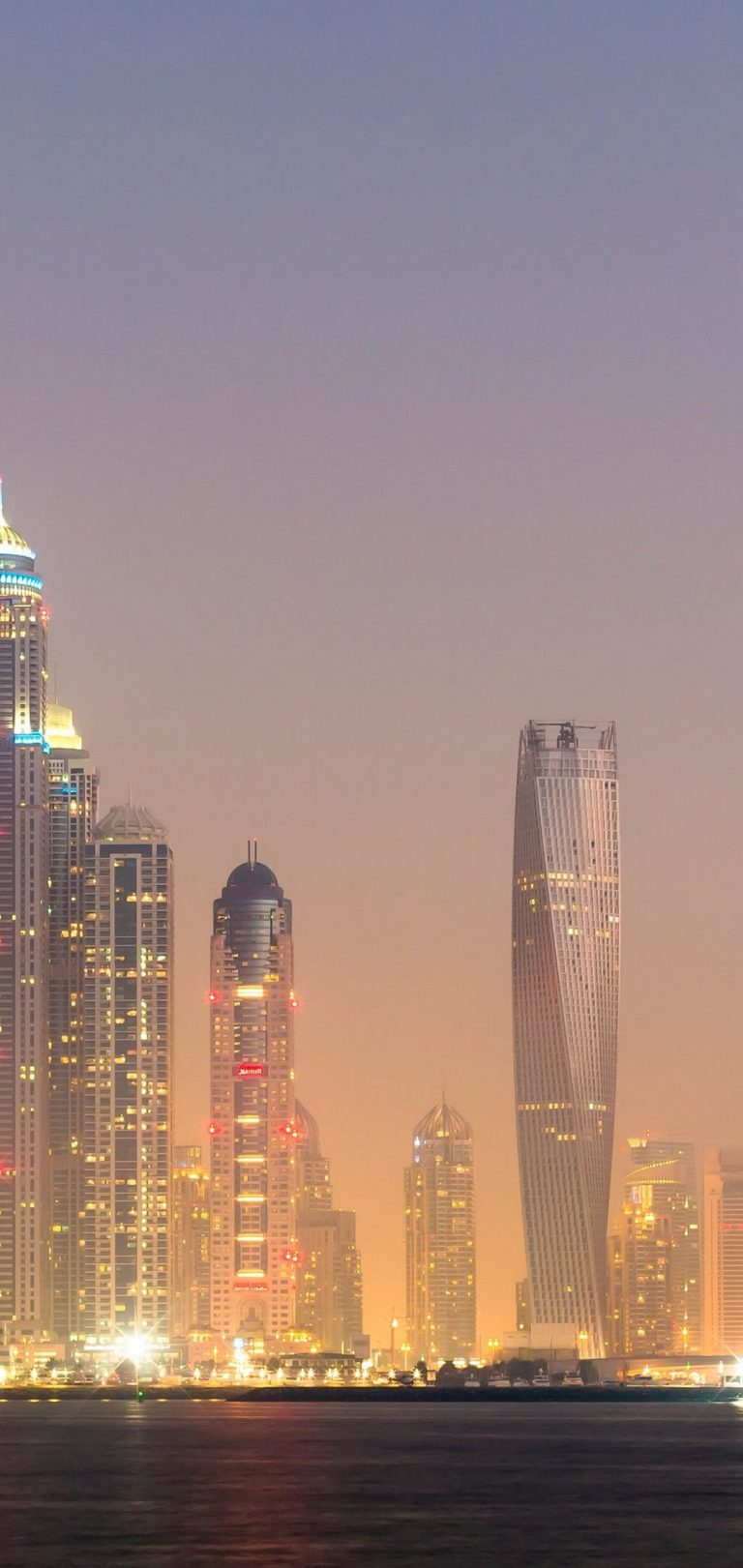 Dubai Lights Wallpaper 1080x2280 768x1621