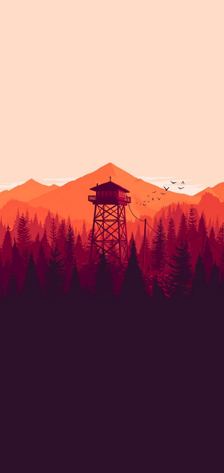 Firewatch Wallpaper 1080x2280 768x1621