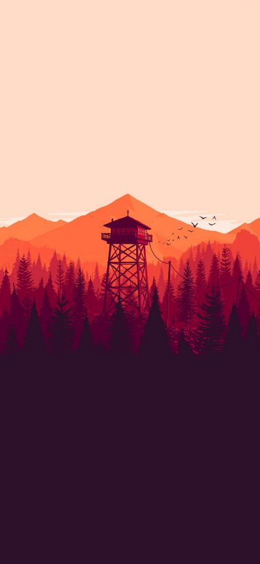 Firewatch Wallpaper 1125x2436 380x823