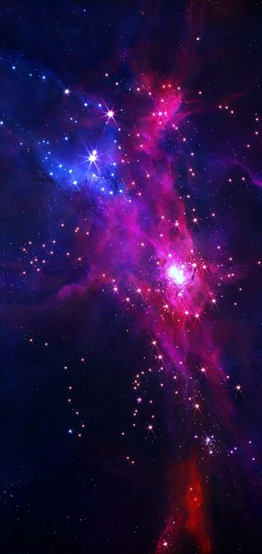 Galaxy Colors Wallpaper 1080x2280 380x802
