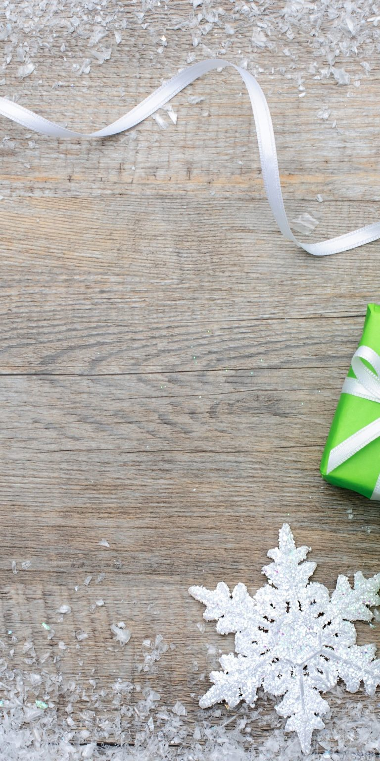 Gifts Snowflakes Ribbon Bowknot 1440x2880 768x1536