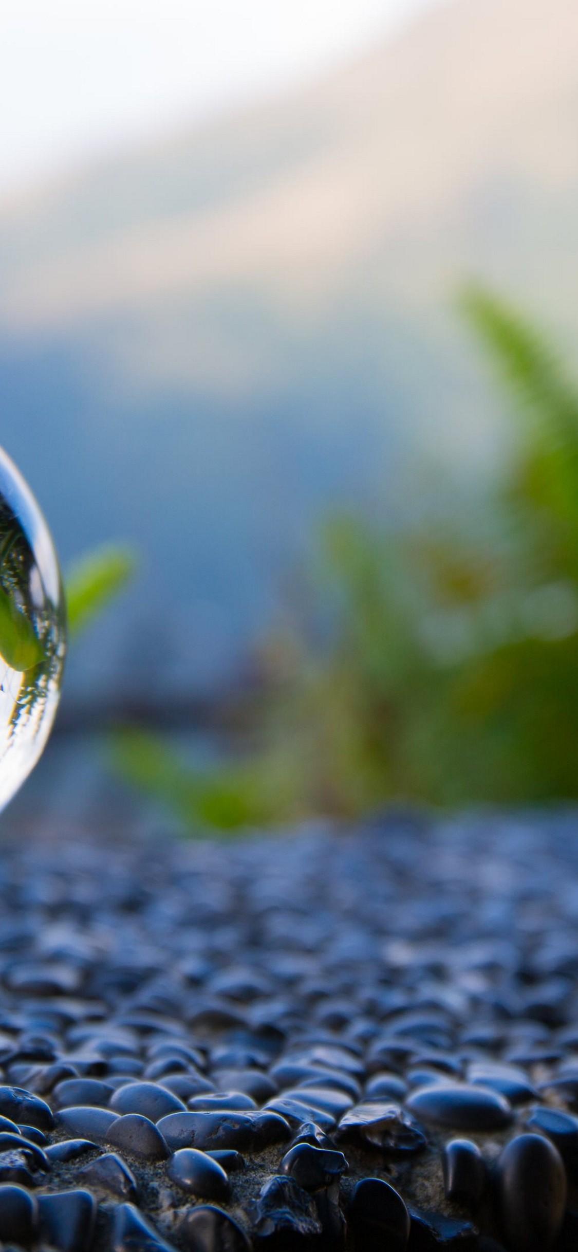Glass Ball Reflection Wallpaper