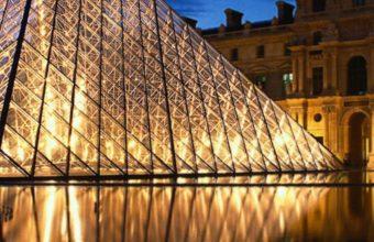 Louvre Pyramid Glass Paris France 1440x2880 340x220