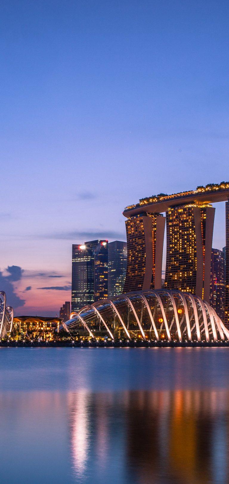 Marina Bay Sands Wallpaper 1080x2280 768x1621