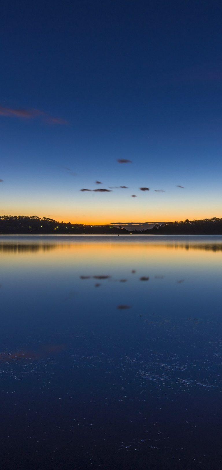 Nature Lake Sunset Landscape Wallpaper 1080x2280 768x1621