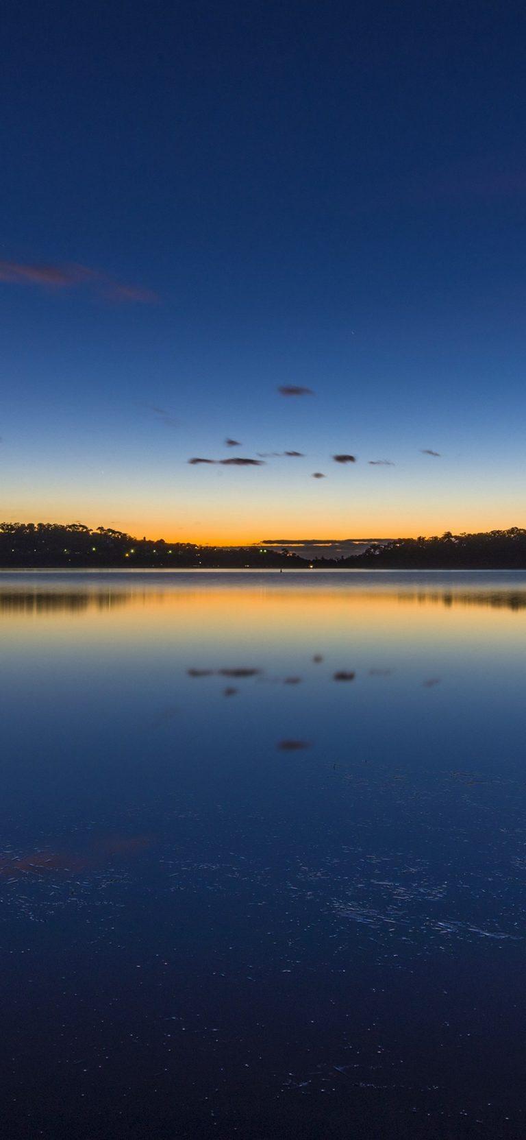 Nature Lake Sunset Landscapehd HD Wallpaper 1125x2436 768x1663