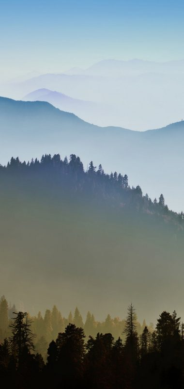 Nature Mountain Range Fog Sunrise Wallpaper 1080x2280 380x802