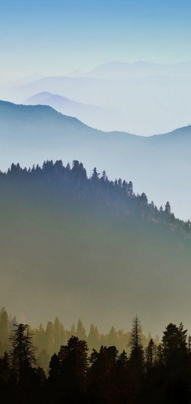 Nature Mountain Range Fog Sunrise Wallpaper 1080x2280 380x802