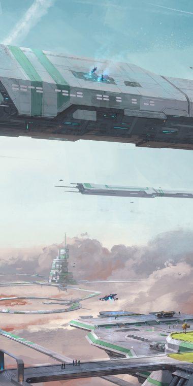 STAR CITIZEN Sci Fi Spaceship 1440x2880 380x760