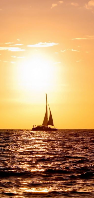 Sailboat Wallpaper 1080x2280 380x802