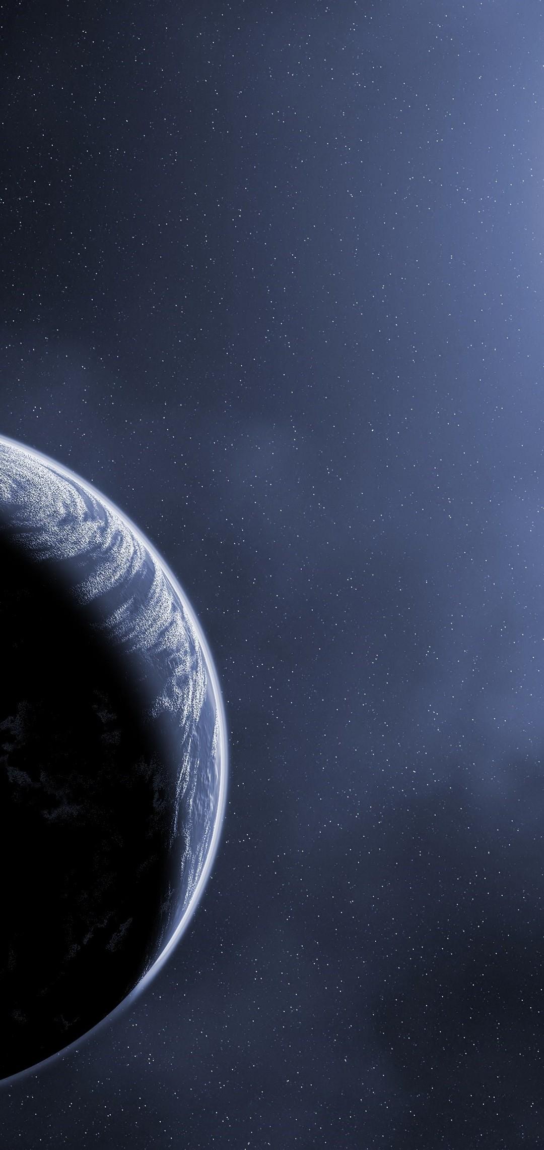Scientific Planet Galaxy Space Stars Wallpaper 1080x2280