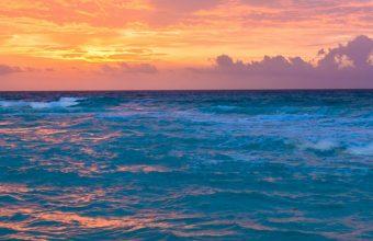 Sea Surf Sunrise Waves Sand Ocean 1440x2880 340x220