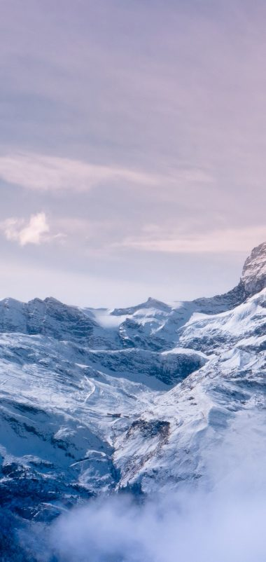 Snow Mountain Wallpaper 1080x2280 380x802