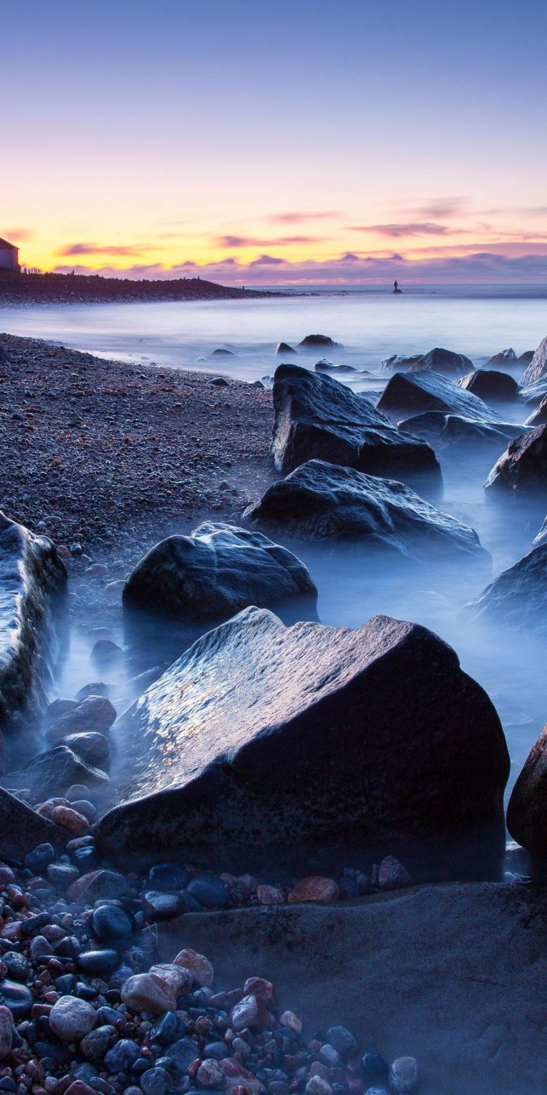Sunset Sea Beach Rocks Lighthouse 1440x2880 768x1536
