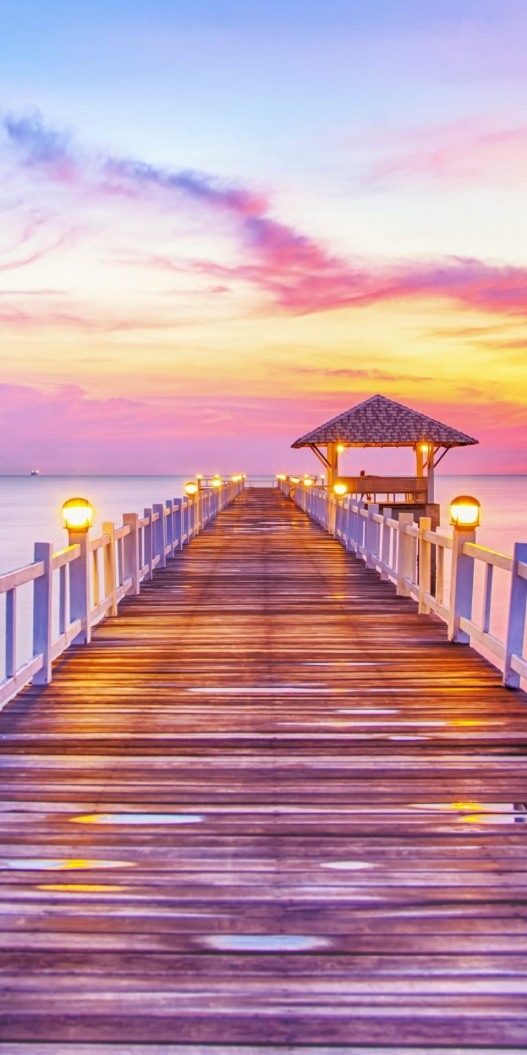 Sunset Sea Sun Landscape 1440x2880 768x1536