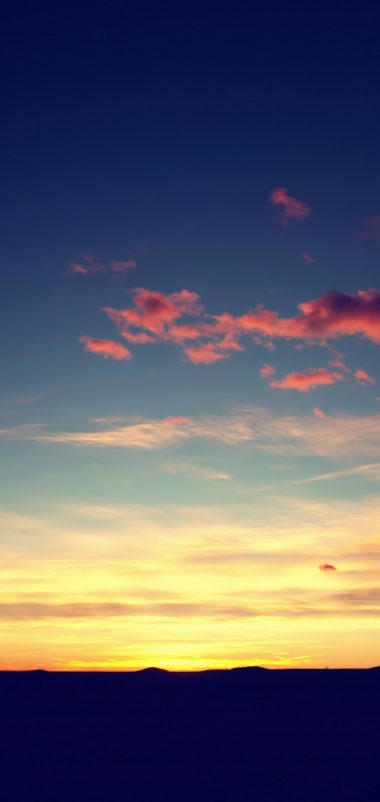 Sunset Sky Wallpaper 1080x2280 380x802