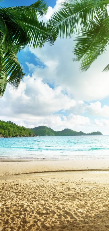 Tropical Beach View Wallpaper 1080x2280 380x802