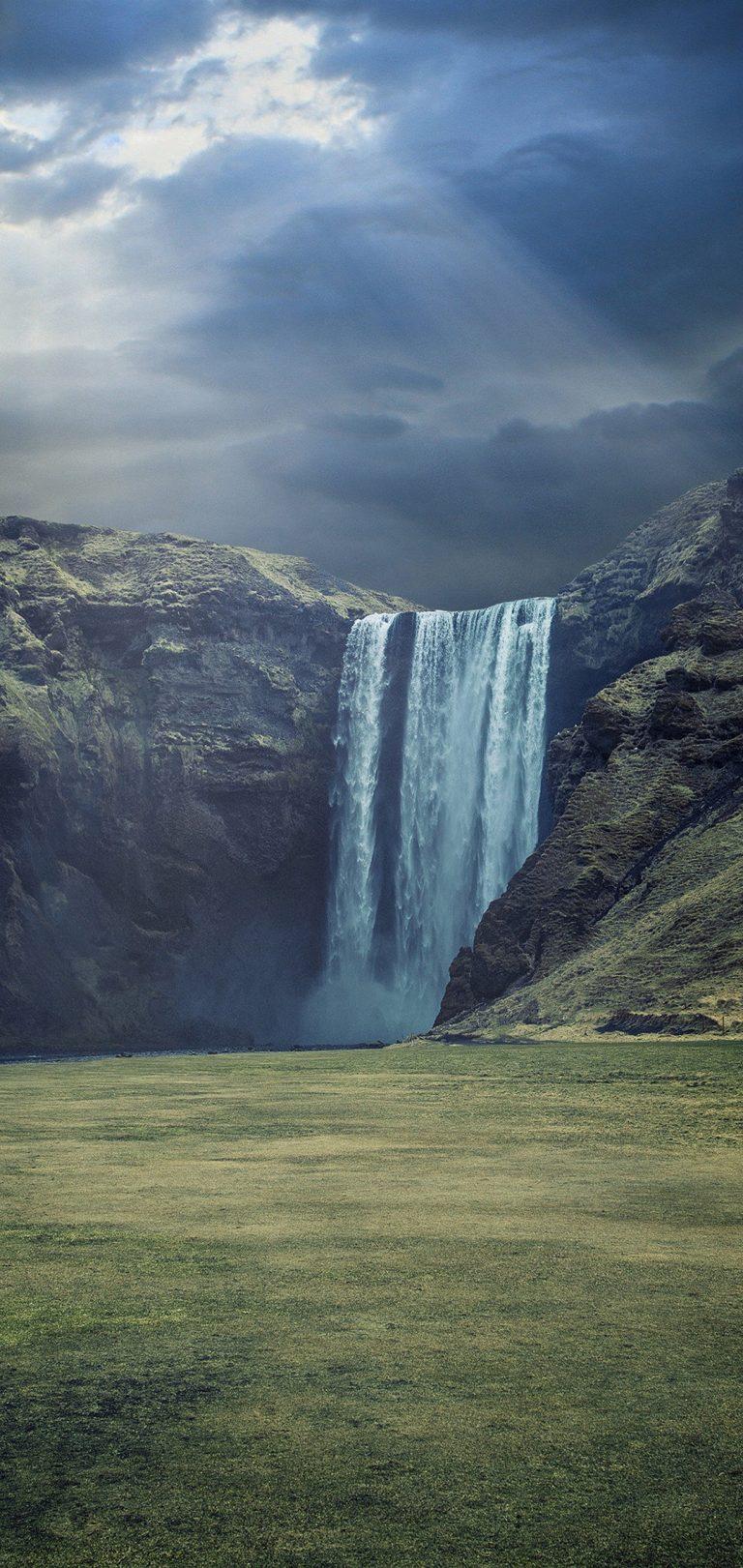 Waterfall Landscape Wallpaper 1080x2280 768x1621