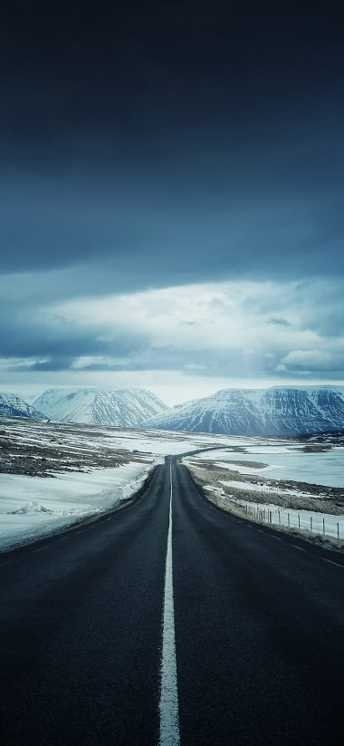Winter Road HD Wallpaper 1125x2436 380x823