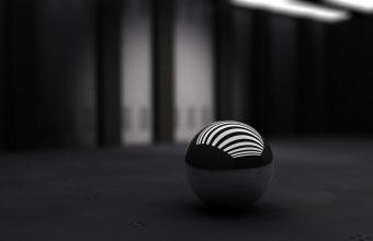 3D Black Ball 1152x720 340x220