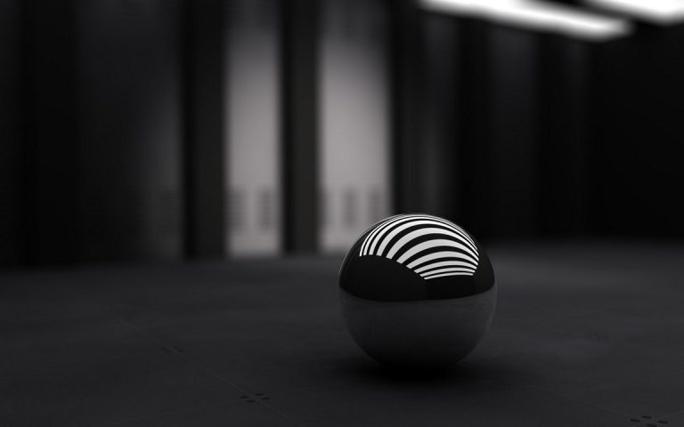 3D Black Ball